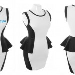 Black White Club Dresses for Plus Size Women