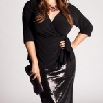 Black club dresses plus size women Minnelli large size