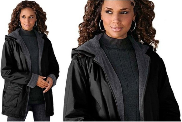 Black pea coats for women plus size