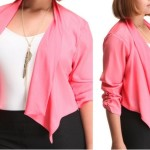 Blazers for plus size juniors Pink Lilly