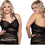 Cheap Plus Size Club Dresses - Brown Mini Dress Clubwear
