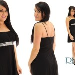 Cheap black club dresses with Belt Sparkle Slinky