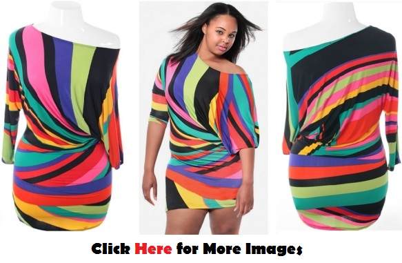 Cheap plus size club dresses  Sexy Colorful Mini