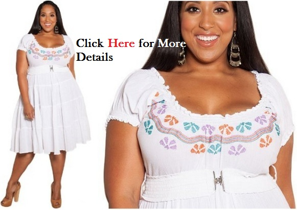 Cheap plus size white dress With A Kiss Designs