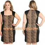 Cheetah club dress plus size PlusSizely