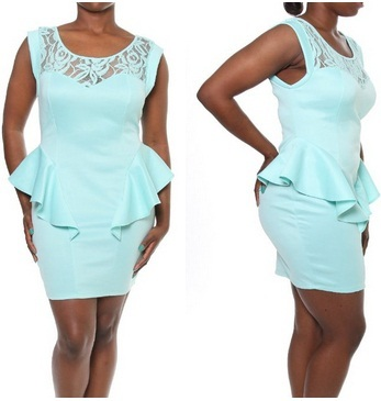 Clubwear Plus Size Cheap Cap Sleeve Sexy Peplum