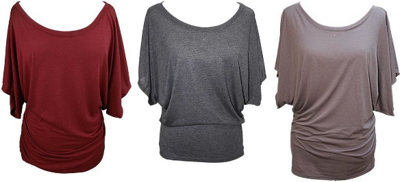 Contemporary plus size clothing Sleeve Blouse Tee