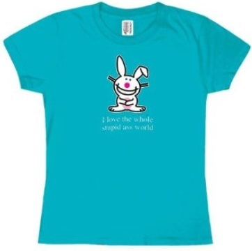 Happy Bunny - Ladies T-Shirt for Junior Plus Size