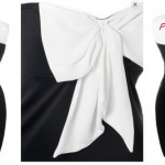 Nightclub Dresses for Plus Size Women White Black Bow Elegant Dress