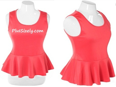 5c321b939e112 ... Pink Club Dresses for Juniors Plus Size Peplum Solid Coral Top Cheap ...