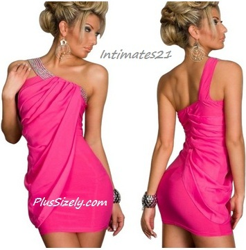 Plus Size Clubwear for Teenage Let&39s Shine! Pink Club Dresses for ...
