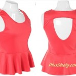Pink Club Dresses for Women Plus Size Coral Top