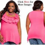 Pink clothing for women Ruffle Accent