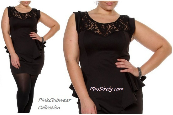 Plus Size Black Lace Club Dresses - PinkClubWear Collection