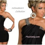 Plus Size Club Wear for Teenage One Shoulder PlusSizely