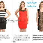 Plus Size Nightclub Dresses for Women Black White, Orange, and Cheetah