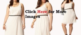 Plus Size White Club Dresses Back Mesh