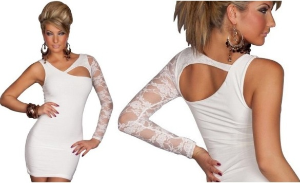 Plus size all white club dresses Amour