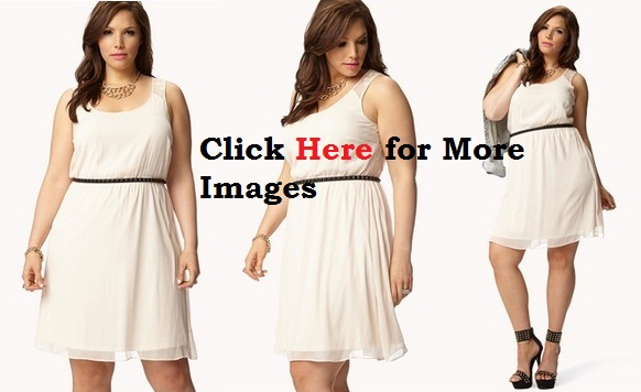 Plus size all white club dresses with belt