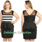 Plus size black and white club dresses PlusSizely