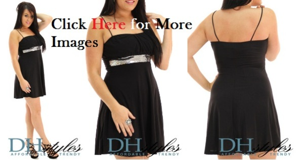Plus size black club dresses with belt Slinky Sparkle Coktail Wear