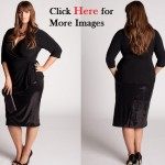 Plus size black skirt suits women Minnelli large size