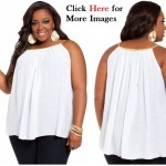 Plus size blouses women white rope