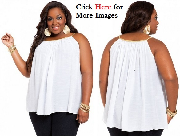 e07364c408a Plus size blouses women white rope