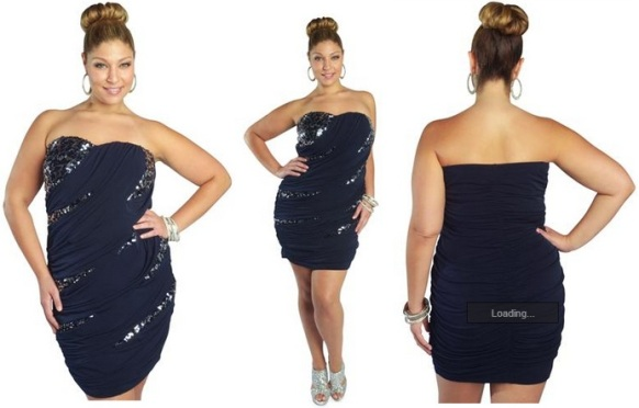 Plus size clubbing dresses with sequin blue dark