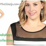 Plus size dresses wear nightclub Black and White