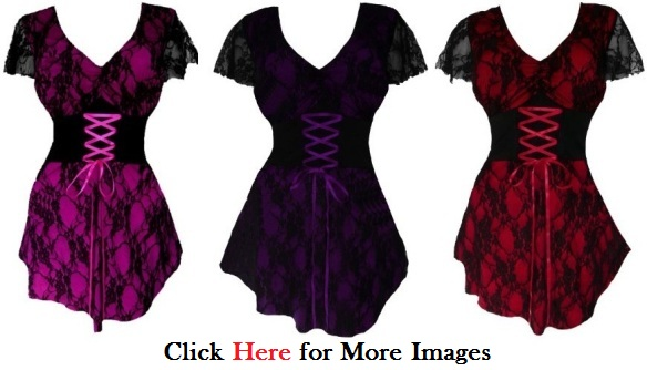 Plus size gothic style clothing Victorian