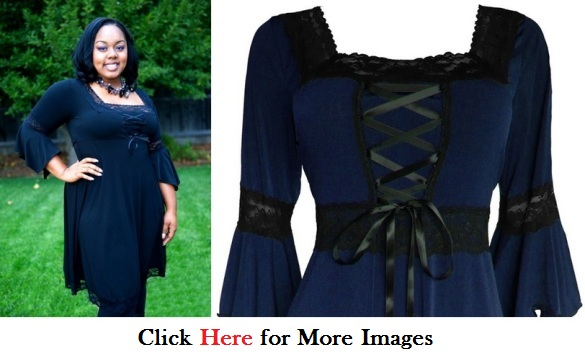 Plus size midnight blue dress Gothic Style