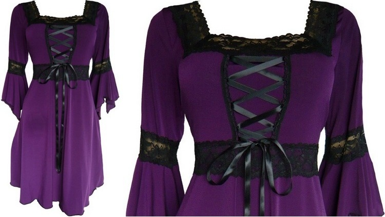 Gothic Style with Plus Size Clothing Plus size plum dresses gothic ...