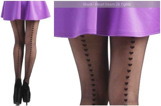 Plus size tights for tall women Pamella Mann Black Heart Seam