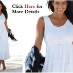 Plus Size White Dress For Feminine & Romantic Impression