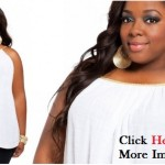 Plus size white party dress simple designs