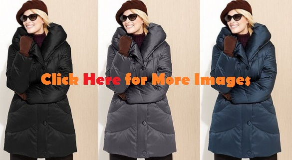 Plus size winter coats for women, Black Steel Teal, Larry Levine