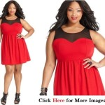 Red club dresses for juniors Sleeveless Neck Line