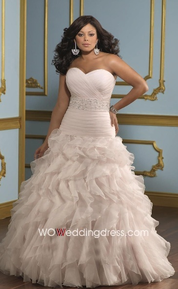 Cheap Plus Size Wedding Dresses Look Slimmer Strapless Sweetheart For Plus S