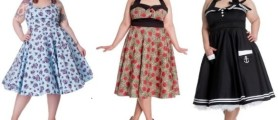 Vintage plus size clothing floral blue, red and black