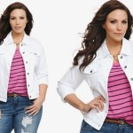 Plus Size Denim Jacket for Fashionable Style White plus size denim ...