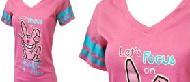 plus size clothing for juniors pink Happy Bunny Tee for Women