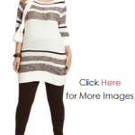 2013 Sweater with Long Sleeve Striped Tunic