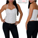 Plus size white club tops
