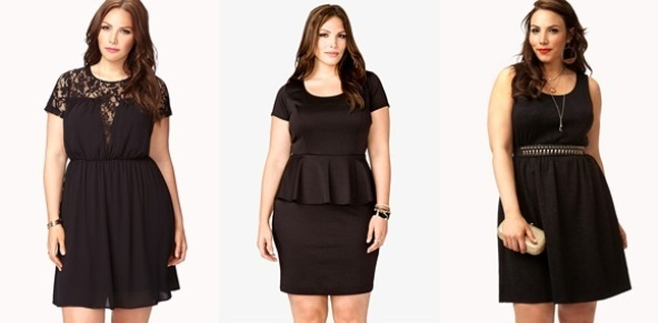 Cheap Plus Size Dresses Forever21 Collection All Black Plus Size
