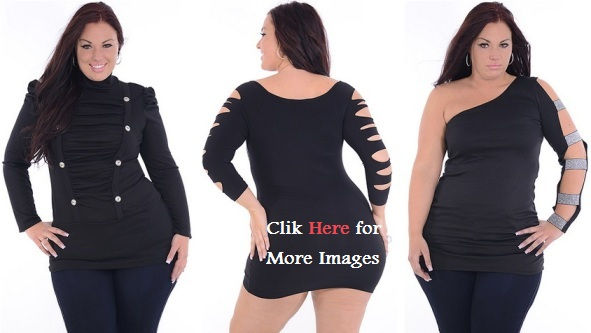 All black plus size club dresses great glam