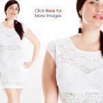All white lace party dress for women or girls