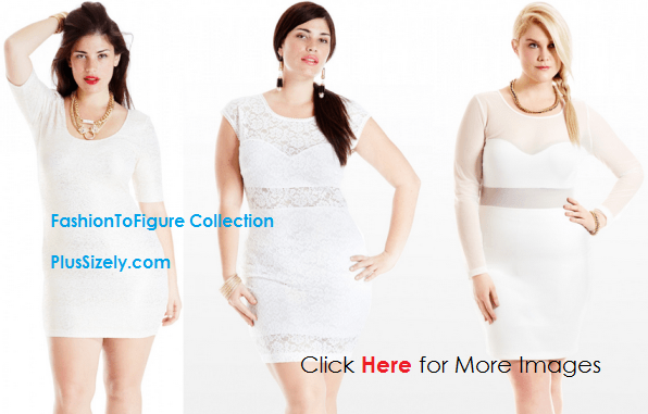 All White Plus Size Club Dresses Shining In The Night All White