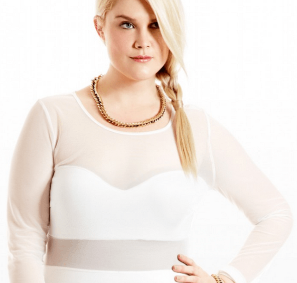 All white plus size party dresses for plus size fashion with transparet top - Longe sleeve