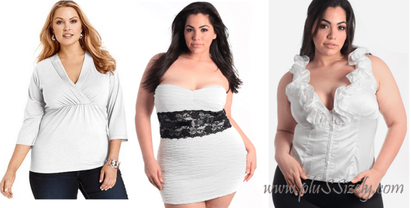 Best Choice 2013 White Plus Size Club Dresses Image
